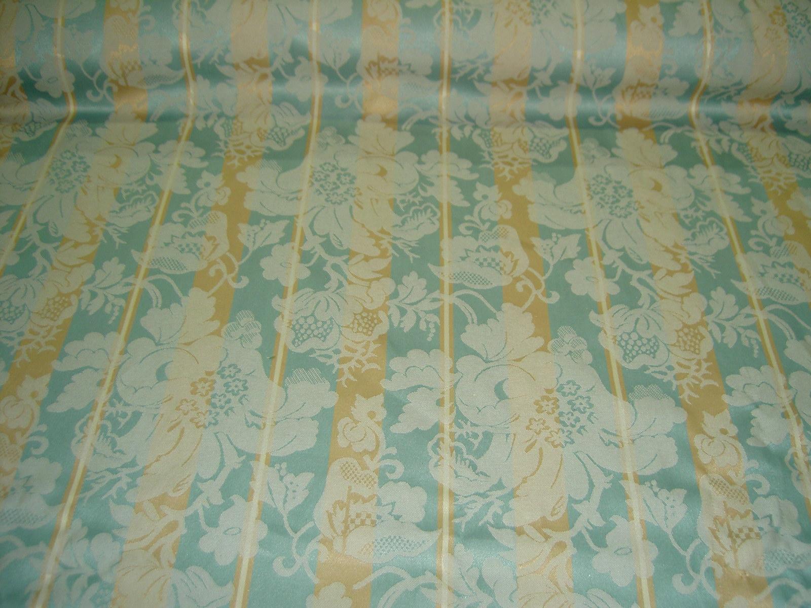 Additional Views Closeout Aqua Tan Damask Stripe Home Decor Fabric Cr111404 001